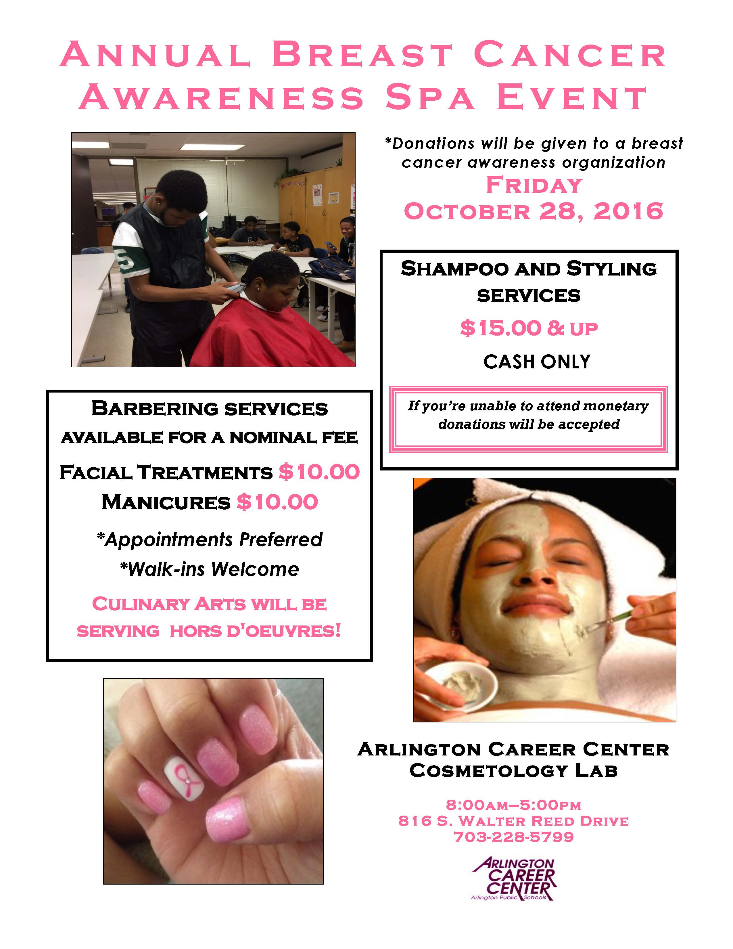 Breast Cancer Awareness Spa Day 2016