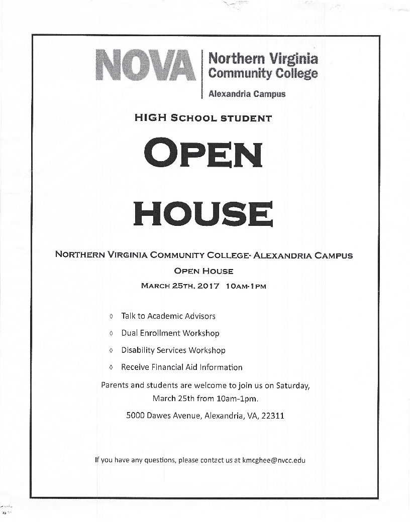Northern Virginia Community College Open House