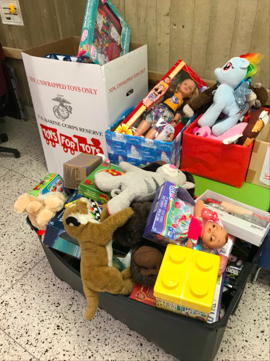 ACC students collected over 200 gifts for Toys for Tots this holiday season.