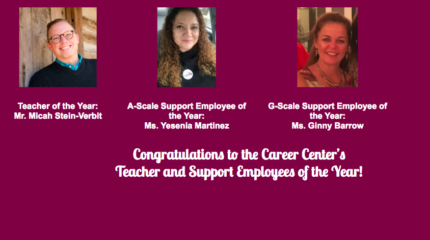 Congratulations to our TOY and EOY!