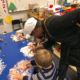 Photo of preschool students with ACC Chef Renee Randolph
