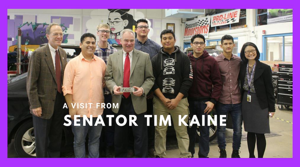 Senator Kaine Visits the Career Center
