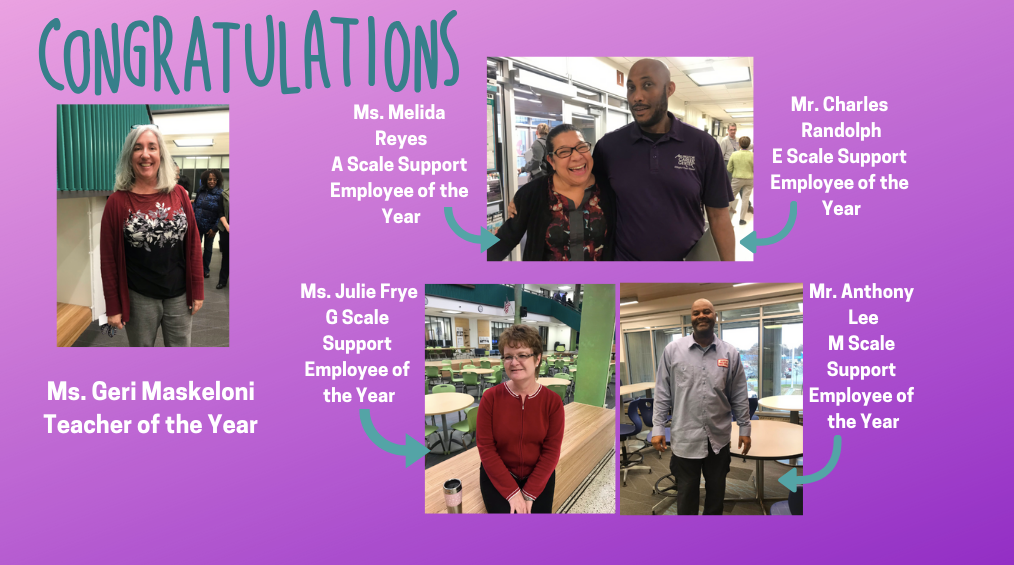 Congratulations to our Staff of the Year!