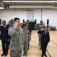AF JROTC Cadets stand at salute