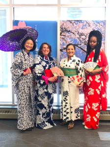 photo of staff and student celebrating Japan Day