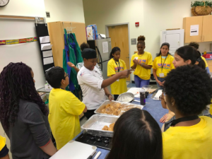 Color of Leadership - Chef Randolph and students