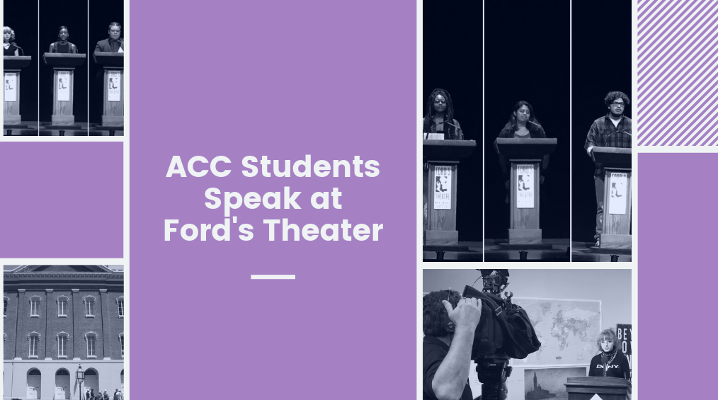 ACC Students Speak at Ford's Theater