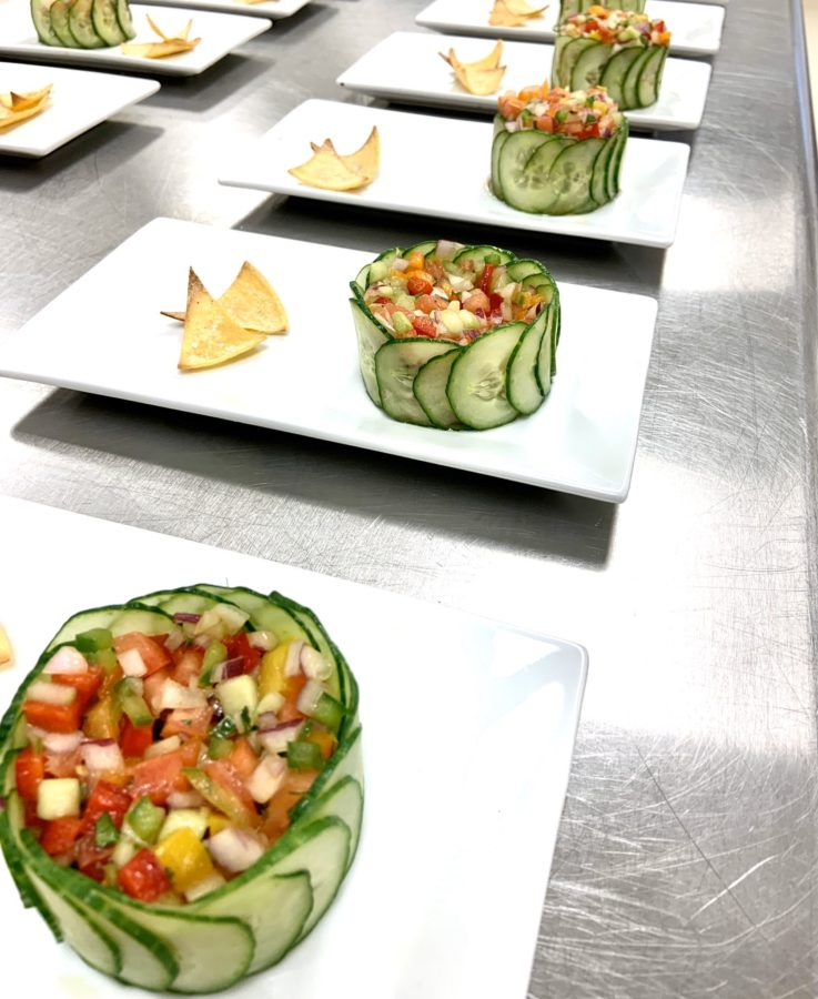 Delicious snacks prepared by Culinary Arts students.