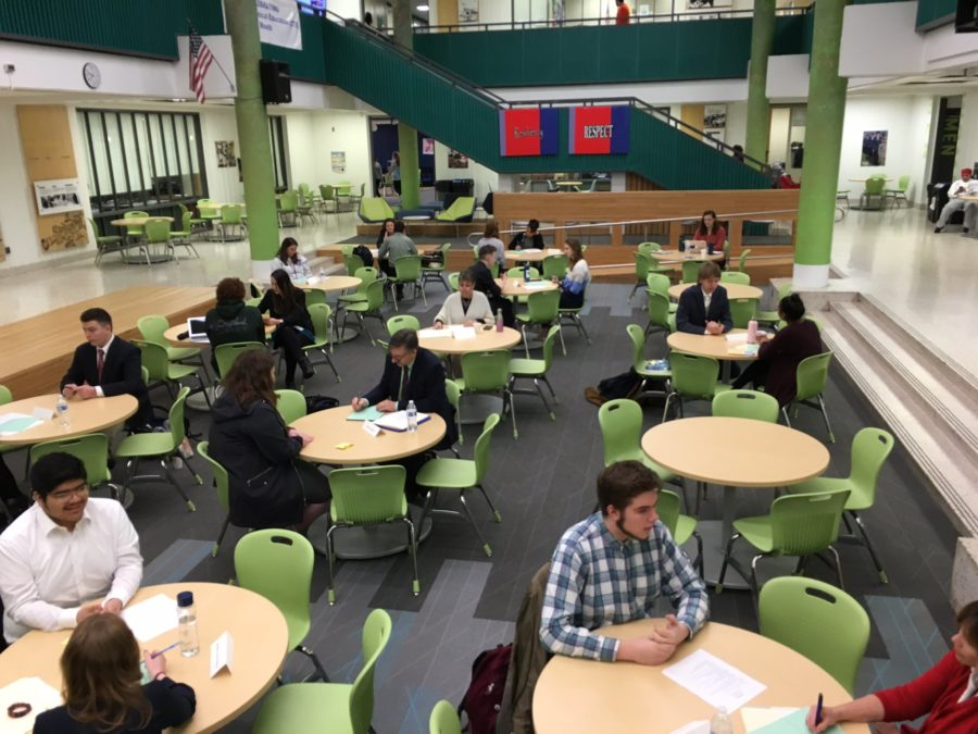 AT 11th graders participate in Mock Interview Day