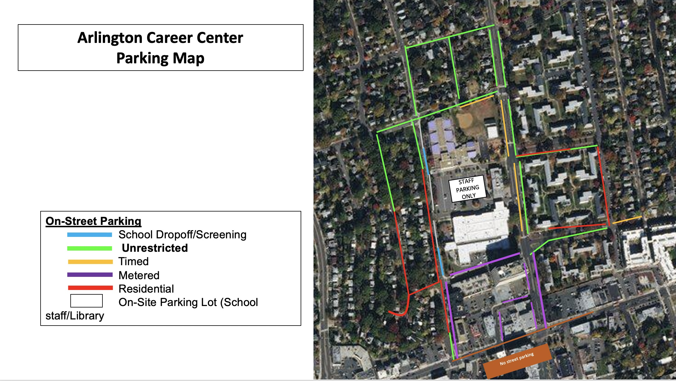 Map of ACC parking. Please contact school for more information.