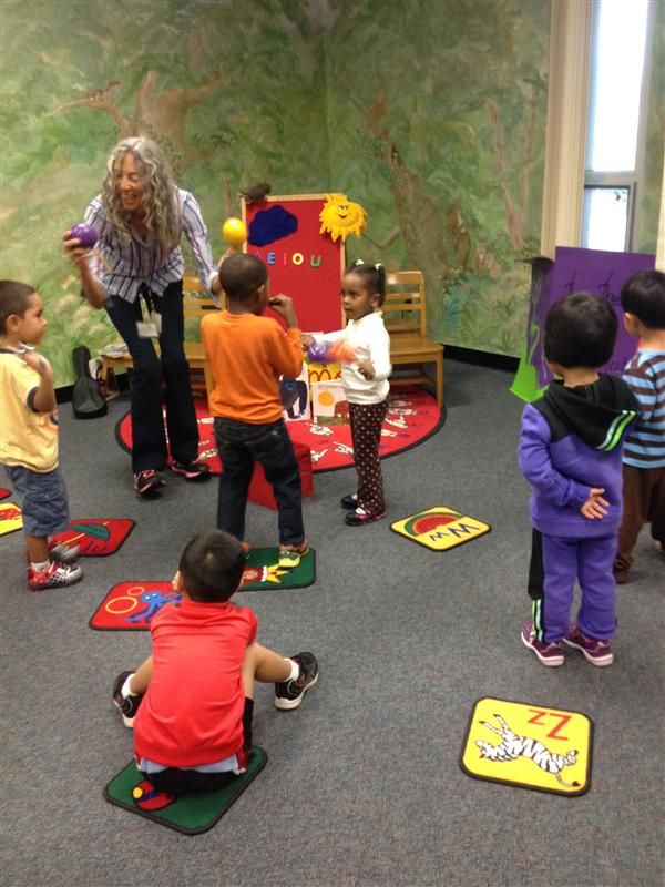 Students engaged in gross motor play