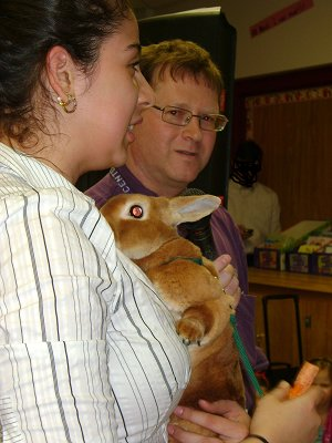FFA students talked about some of the animals at Abingdon's Library Night